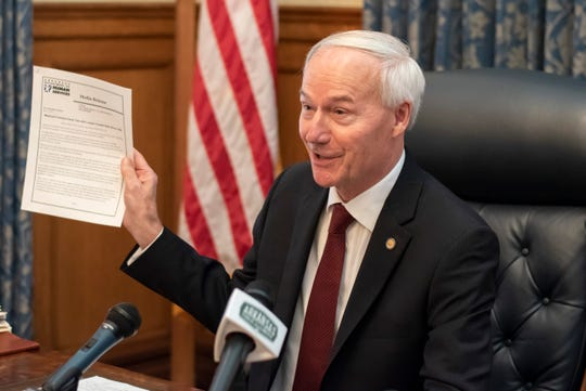 Gov. Asa Hutchinson hopes to begin re-opening Arkansas by May 4. Several other governors plan to begin lifting restrictions as early as this weekend.