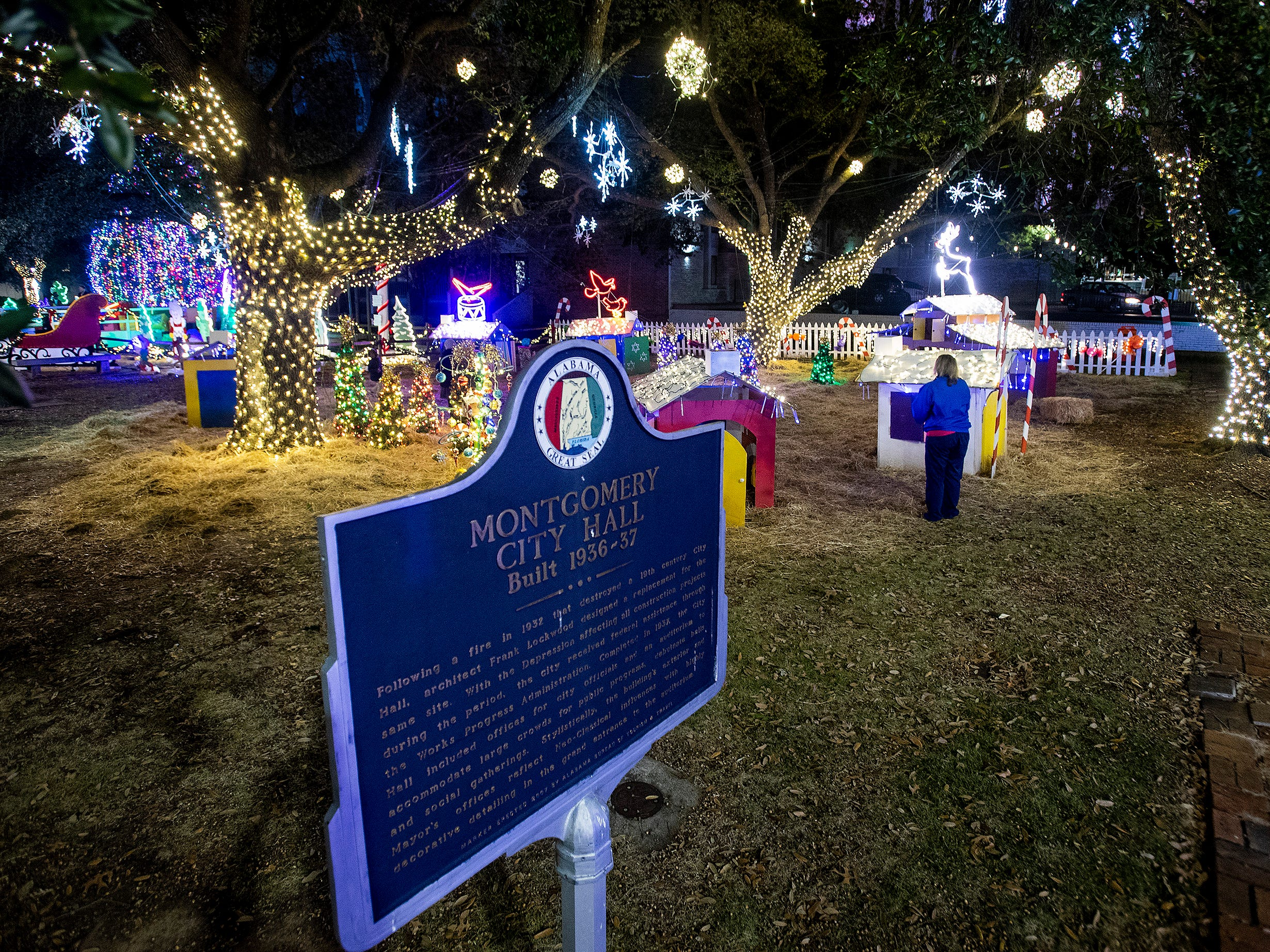 During the City of Montgomery Christmas Tree lighting in Montgomery, Ala., on Tuesday evening November 27, 2018.