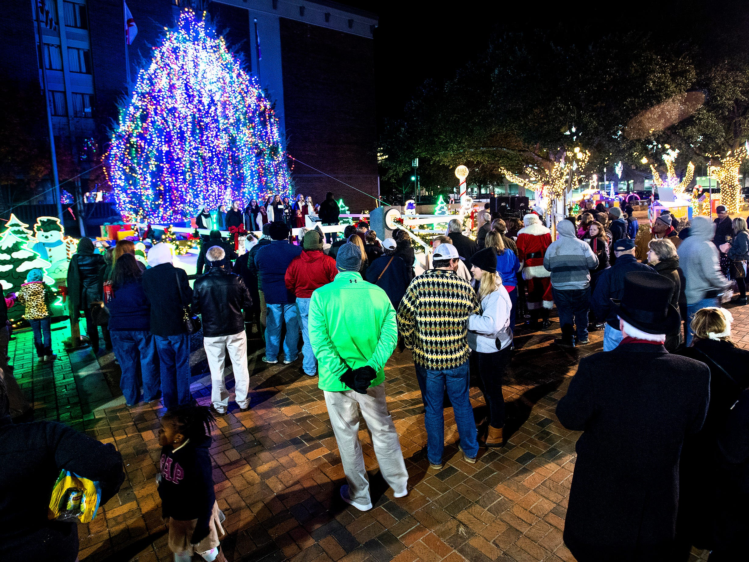 The City of Montgomery Christmas Tree lighting is held in Montgomery, Ala., on Tuesday evening November 27, 2018.