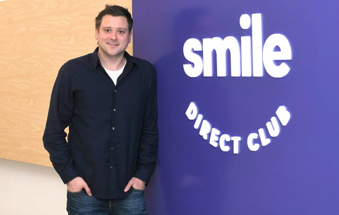 Alex Fenkell, co-founder of SmileDirectClub, stands in the company's downtown Nashville office on Nov. 27.