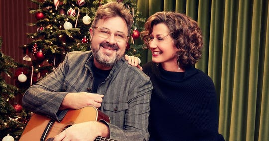 Vince Gill and Amy Grant in 2018.