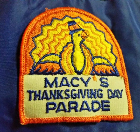 Patch from participating in the Macy's Thanksgiving Day Parade.