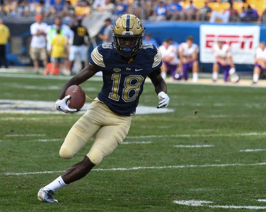 Pitt wide receiver Shocky Jacques-Louis, a Dunbar grad, has played in nine of 12 Panthers games as a true freshman.