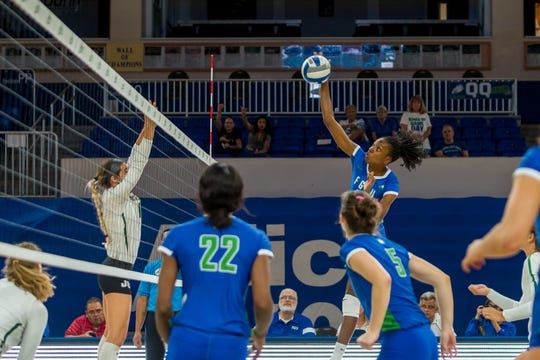 Since taking over the right side for the injured Amanda Carroll, Sharonda Pickering has become the country's hitting percentage leader.
