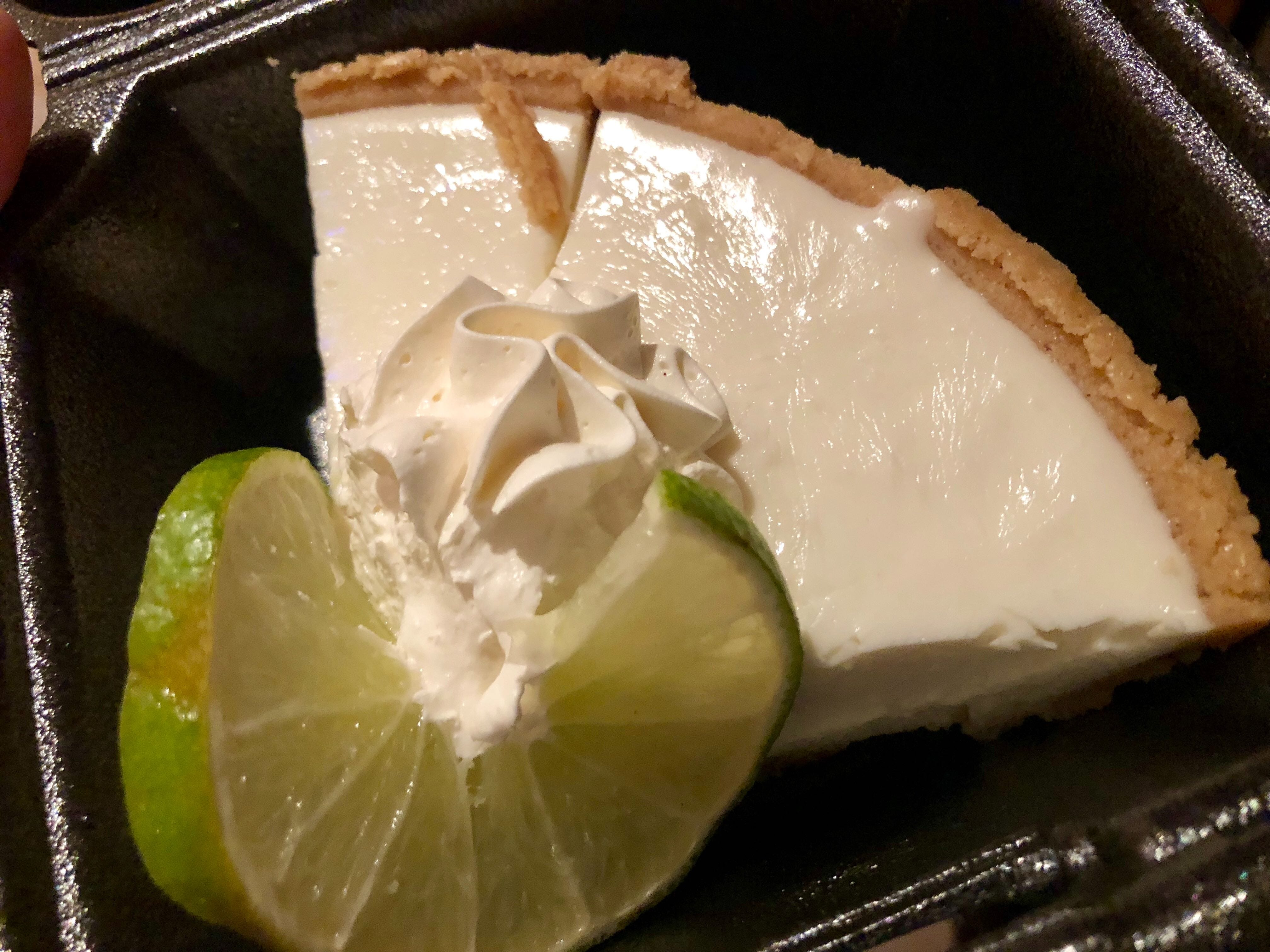 A slice of house-made Key lime pie from Bone Hook Brewing Co. in North Naples.