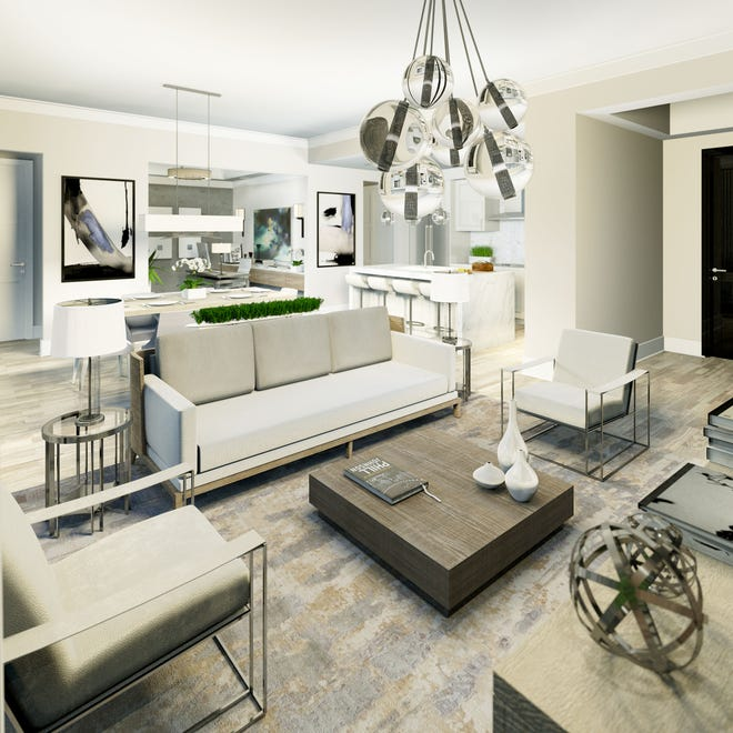 Baer's Furniture's Linda Kaufman is creating the interior for Naples Square's Phase III Biltmore model priced at $1.125 million furnished.