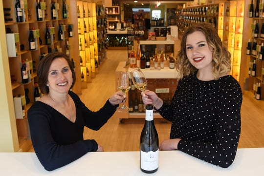 Sharon Sevrens of Amanti Vino and Food and Dining Reporter Rebecca King pose for photos in Montclair on Wednesday November 28, 2018.
