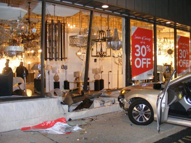 A driver crashed a car into a Paramus store Nov. 27, 2018.