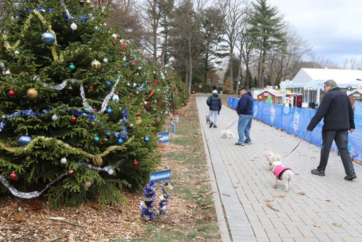 The assortment of decorated trees representing the towns of Bergen County  at the Winter Wonderland at - Get In The Holiday Spirit At Van Saun Park Winter Wonderland
