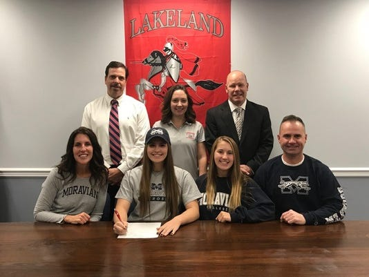 Girls Lax Kendall Lomascola Moravian College Erin Murphy