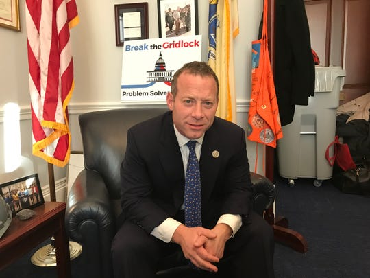 Rep. Josh Gottheimer, D-Wyckoff, describes new House rules he and other moderates negotiated to combat gridlock during a Nov. 28, 2018 interview in his Washington office.