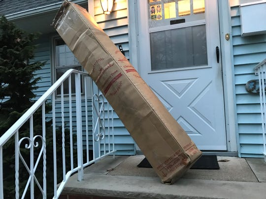 The Amazon tree arrived in a large, slightly battered cardboard box, and was left on the stoop.