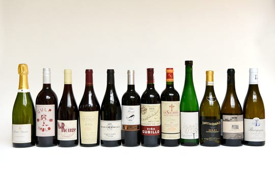 The 12 wines Sharon Sevrens of Amanti Vino selected for Mixed Case. Shown in Montclair on Wednesday November 28, 2018.