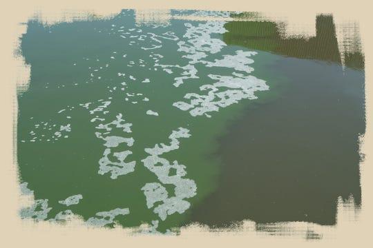 El Río Nuevo fluye hacia la frontera en Mexicali.