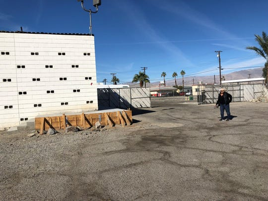 Indio caterer Toni Romero, 58,  shows the expansion underway at the food truck commissary she opened last year. Food trucks are required by county health officials to operate from a commissary where they can prep food, dump grease traps and store trucks overnight.