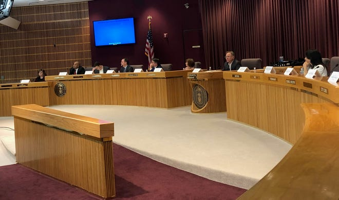 Pensacola Mayor Grover Robinson's transition committee meets at Pensacola City Hall on Tuesday, Nov. 27, 2018.