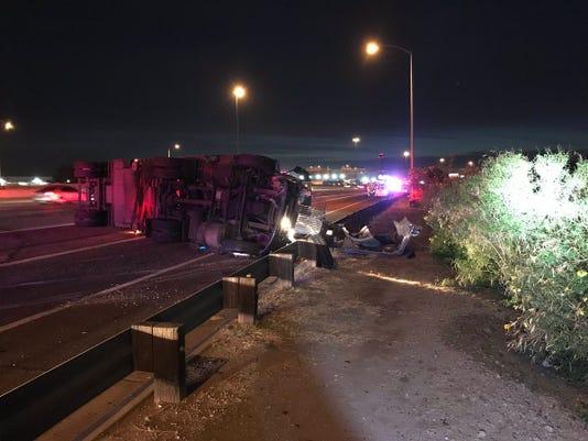 Crash on Interstate 10 at 24th Street