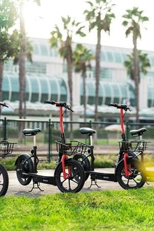 Razor's new EcoSmart seated scooters feature a padded seat and front-mounted basket meant for longer rides.