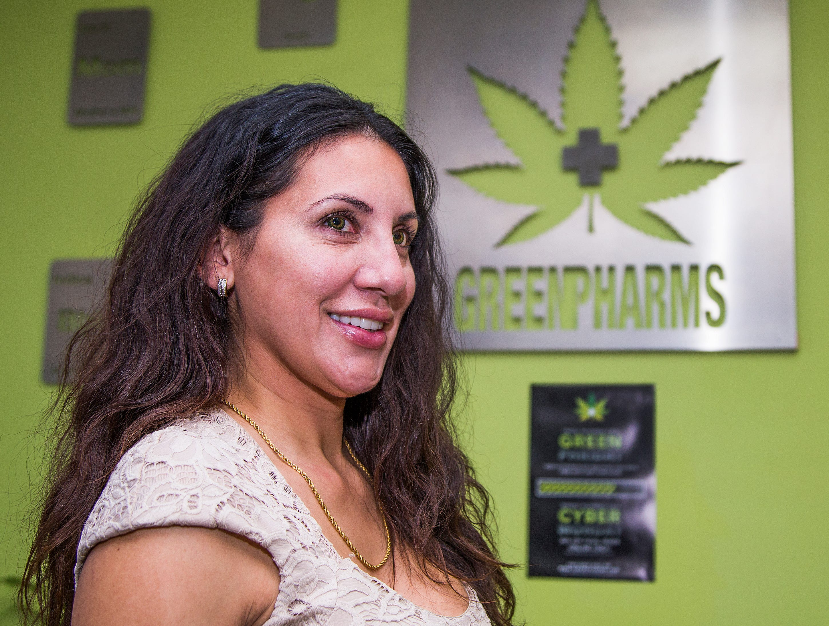 Marie Paredes Saloum, owner of the GreenPharms Dispensary, in her store in Mesa on Nov. 13, 2018.