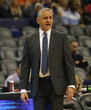 Phoenix Suns head coach Igor Kokoskov watches his team play against the Indiana Pacers during the third quarter November 27.