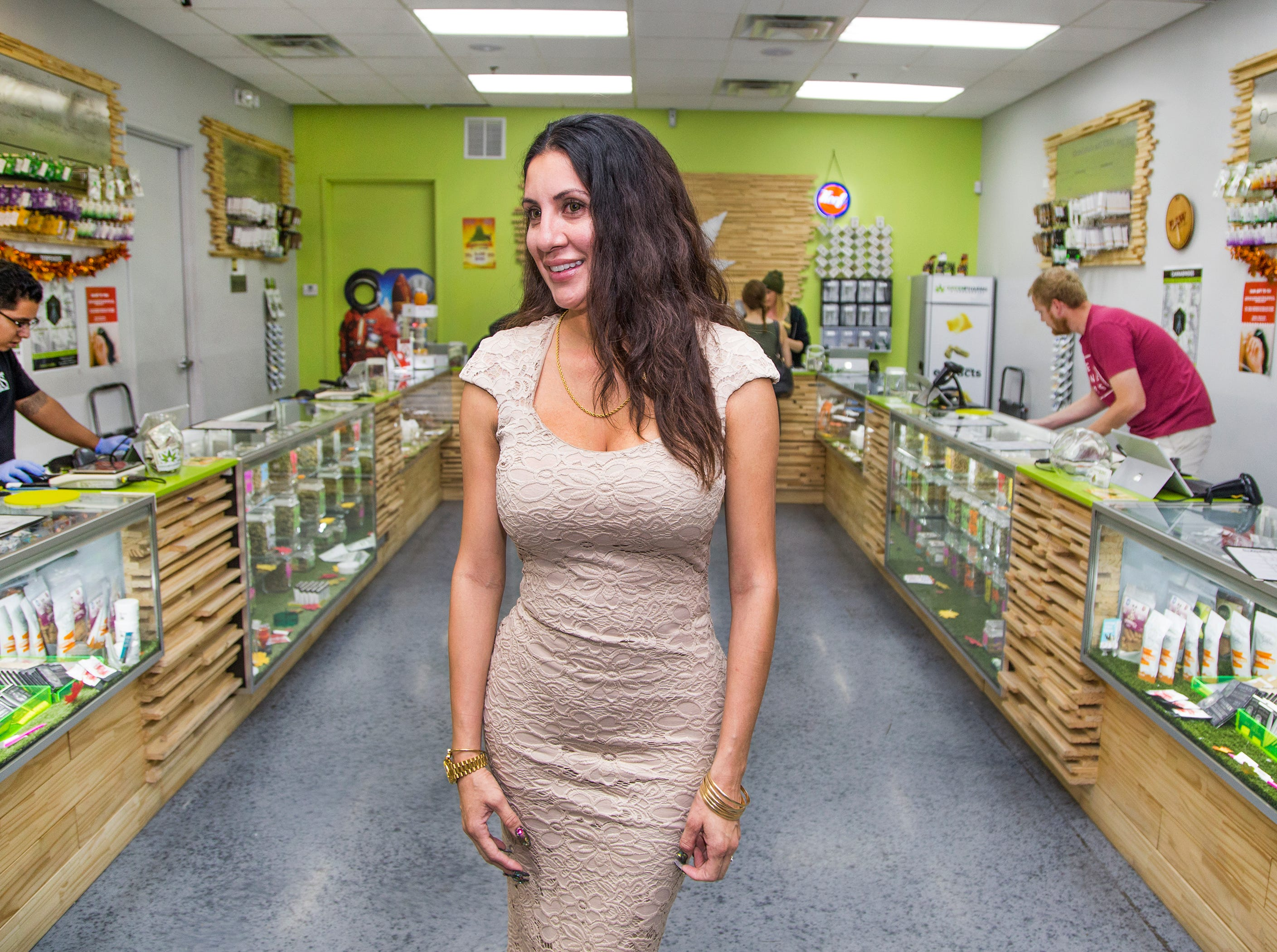 """I knew there was something else for me that would fulfill my life,"" says Marie Paredes Saloum, the owner of GreenPharms Dispensary. ""And I found that in cannabis."""