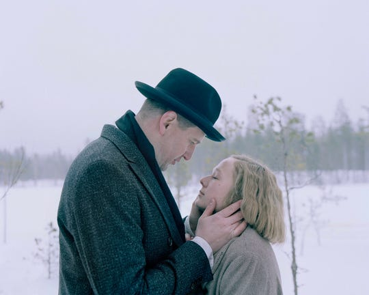 "Alba August and Henrik Rafaelsen in ""Becoming Astrid."""