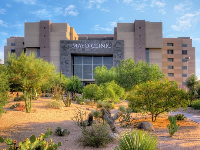 A suspicious substance in a plastic bag found Wednesday at Mayo Clinic in Scottsdale was later determined to be non-threatening, officials said.