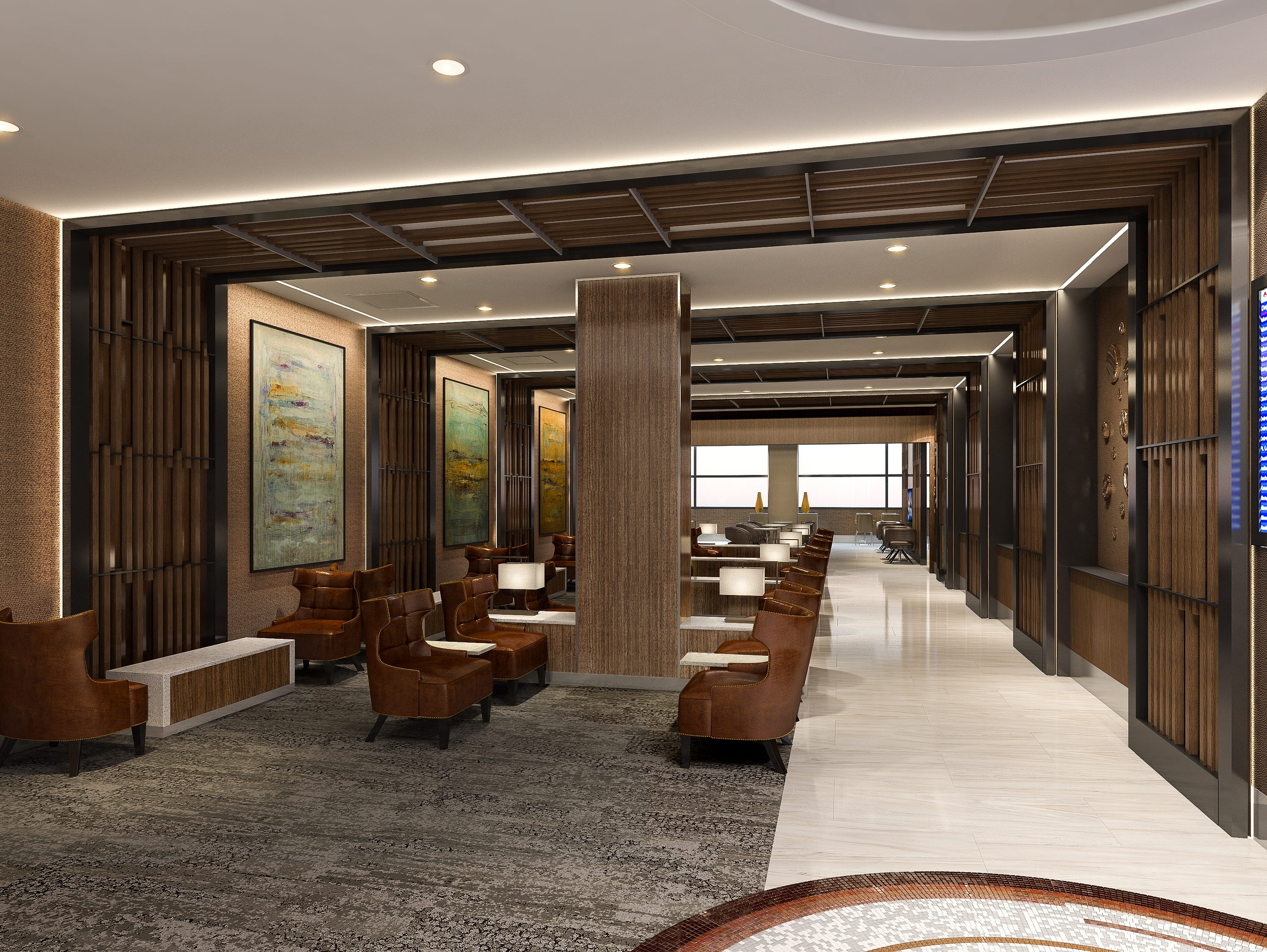 Rendering of the new Delta Sky Club lounge expected to go into Terminal 3