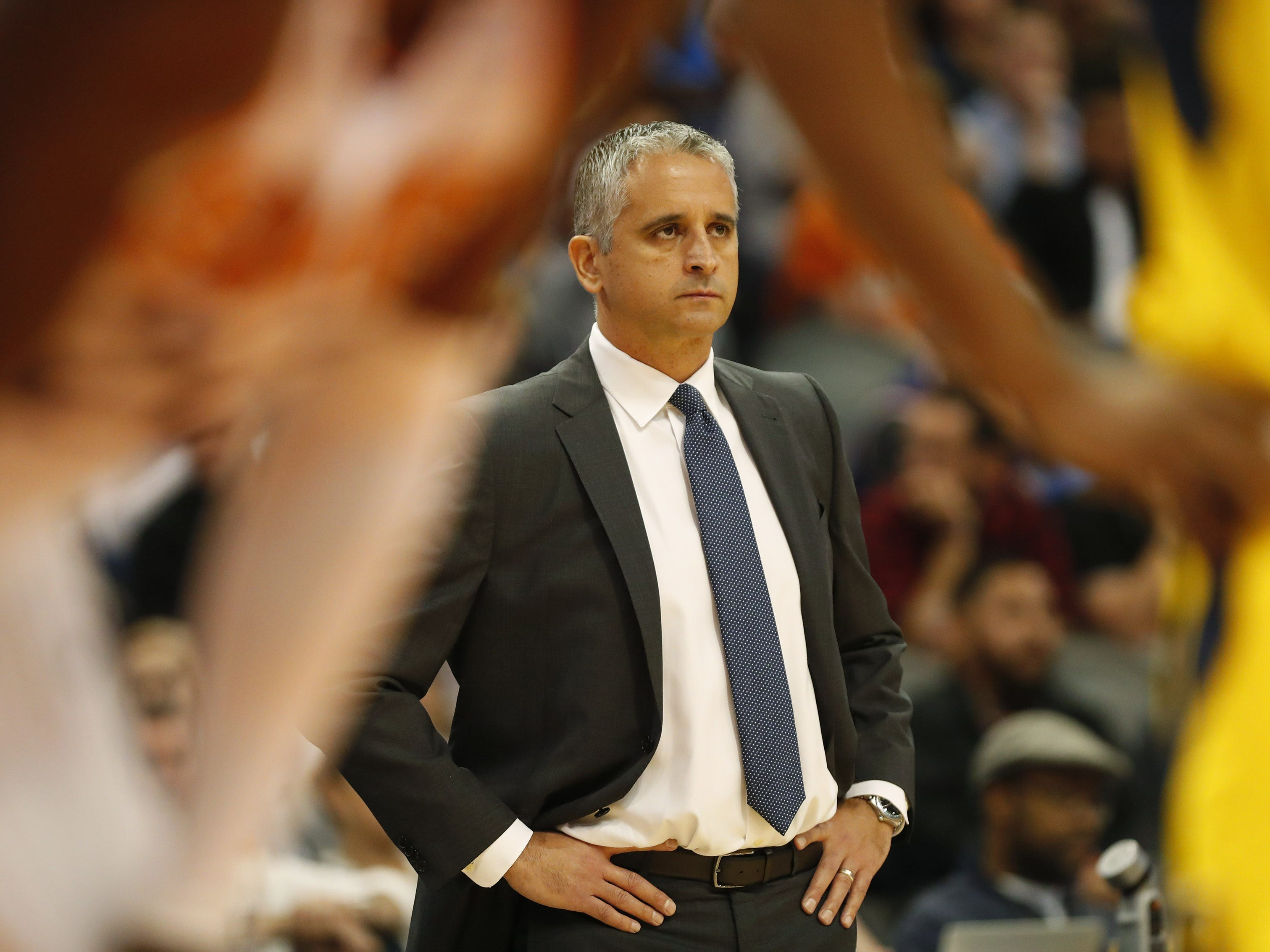 Phoenix Suns head coach Igor Kokoskov watches his tea play against the Indiana Pacers during the third quarter November 27.