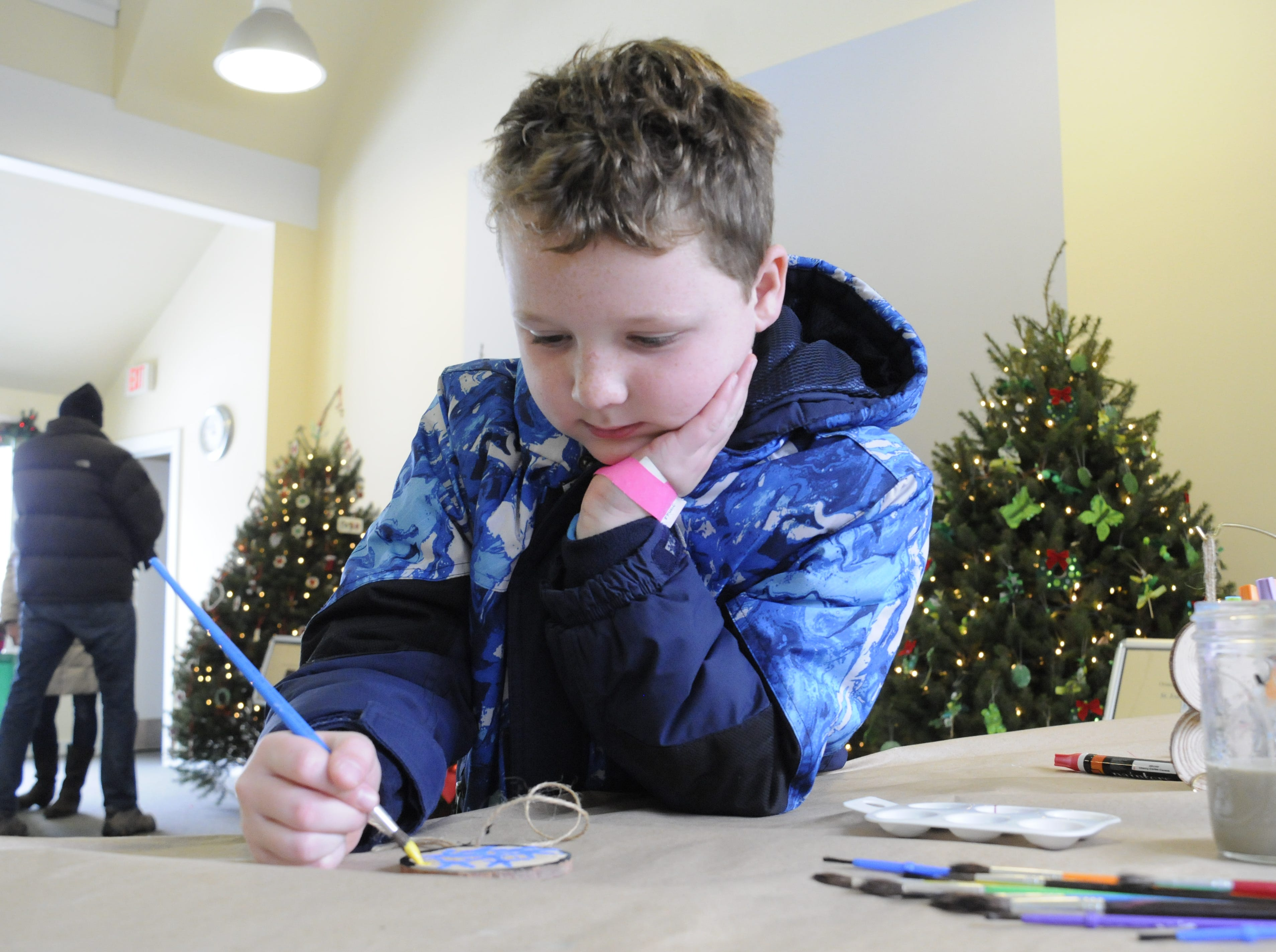 Children can visit the education center to paint their own ornament to take home and also make something for the winter birds in their backyard.