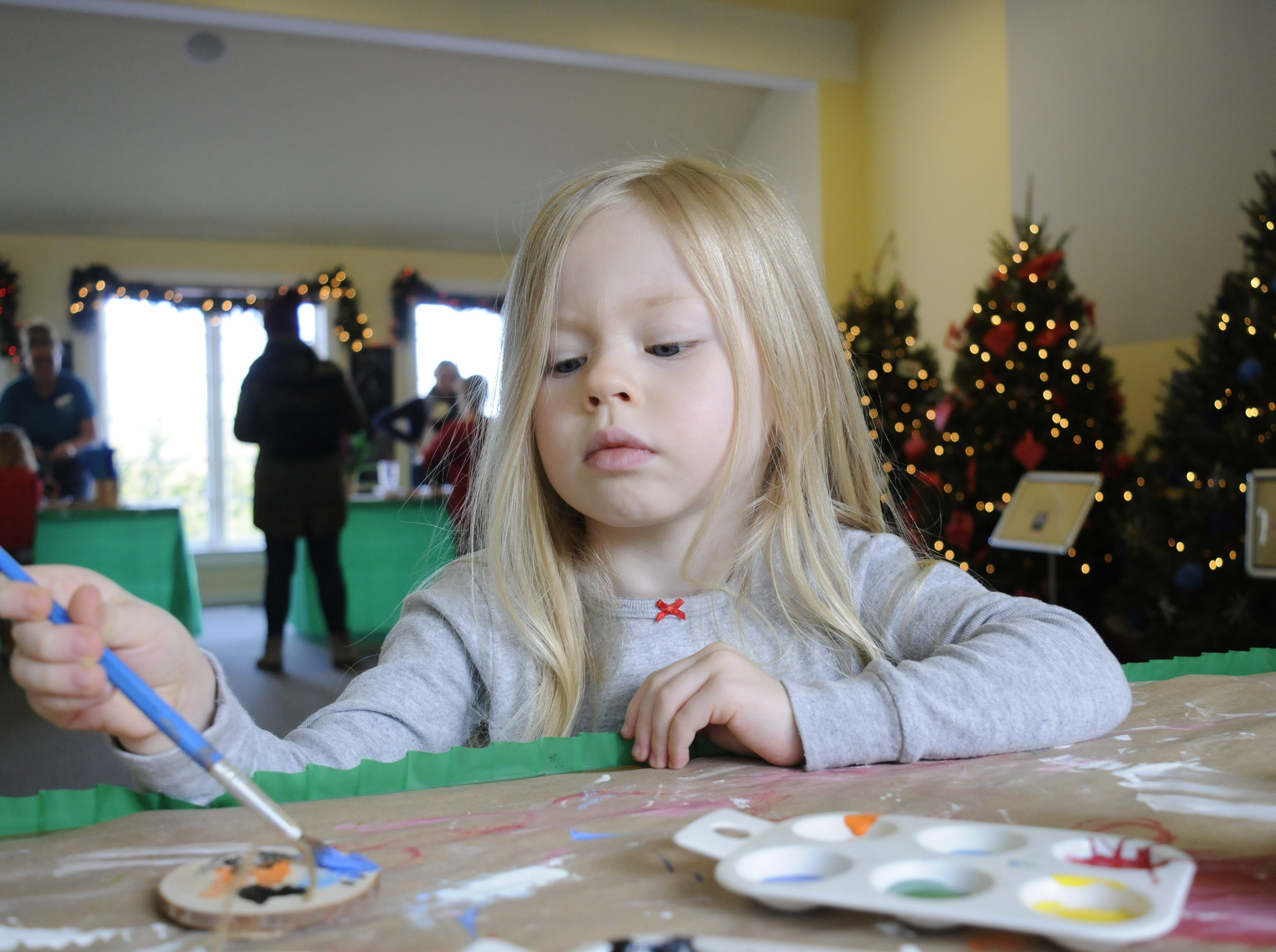 Families can stop by the Education Center, where kids can paint a wooden ornament to take home with them as well as create a special gift for winter birds.
