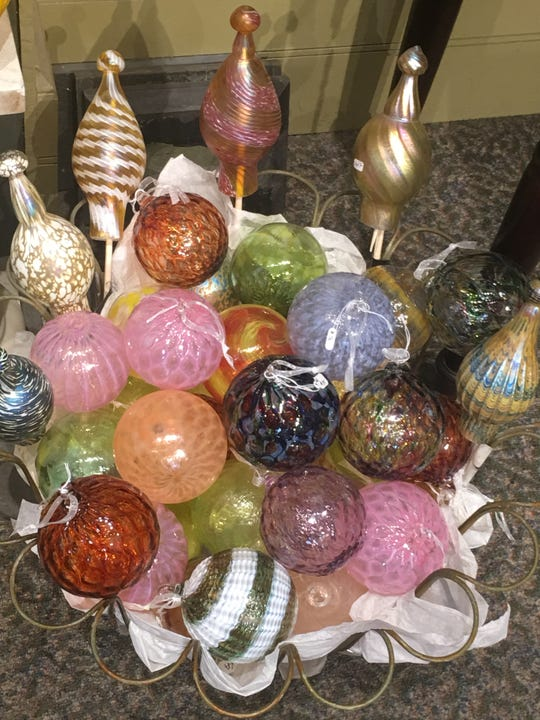 Hand-blown glass ornaments can be found at Hudson Beach Glass in Beacon.