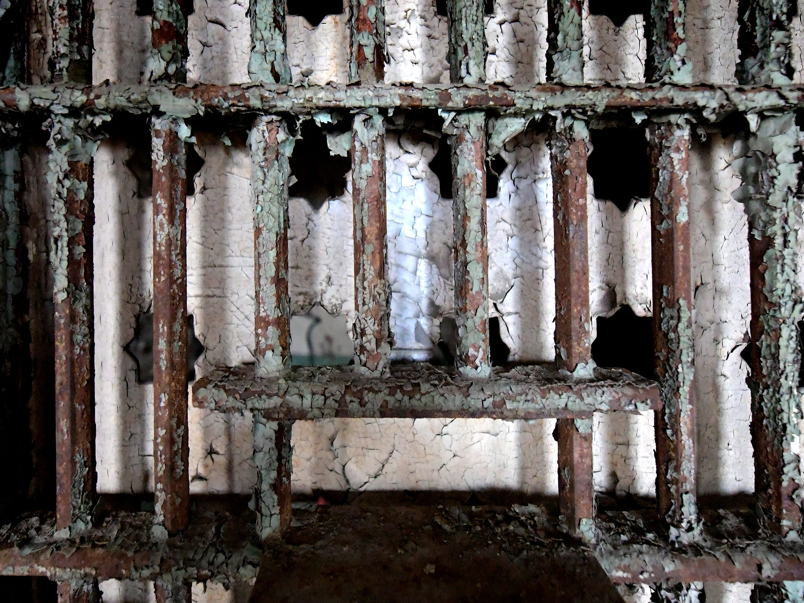 A rusted cell door in the former York County Prison on Chestnut Street in York City Wednesday, Nov. 28, 2018. United Fiber and Data has purchased the building and plans to incorporate the structure into a data center to accompany a 400-mile fiber-optic network it's building between New York and Virginia. Bill Kalina photo