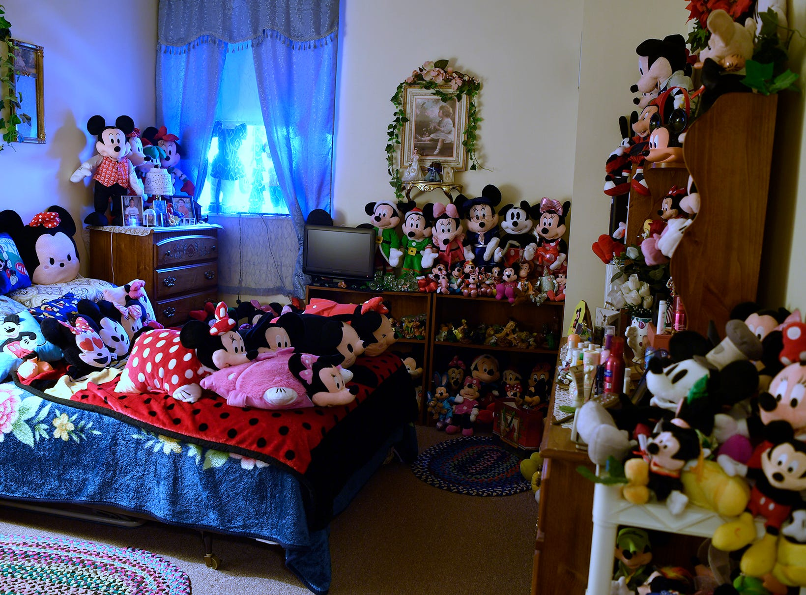 Shirley Hassler, 79 of West York has been collecting Mickey and Minnie Mouse memorabilia for decades. Her West King Street home is filled with more than 500 stuffed versions of Walt Disney's favorite mice, and she has more than 1200 items in her collection. Wednesday, November 28, 2018.  John A. Pavoncello photo