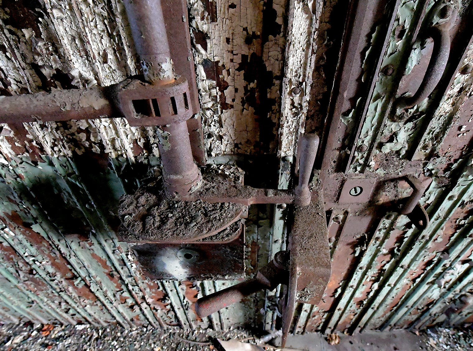 Rusted mechanics in the former York County Prison on Chestnut Street in York City Wednesday, Nov. 28, 2018. United Fiber and Data has purchased the building and plans to incorporate the structure into a data center to accompany a 400-mile fiber-optic network it's building between New York and Virginia. Bill Kalina photo