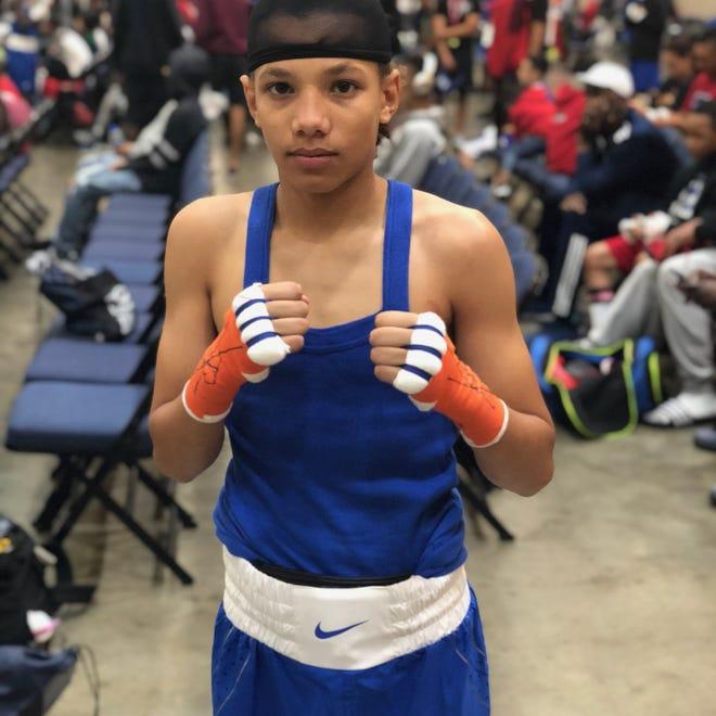York's Antwoine Dorm Jr. poses at a recent amateur boxing tournament.
