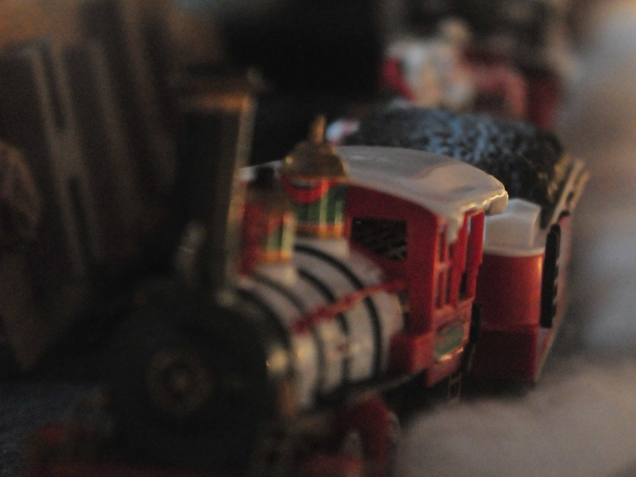 A train decorates a store window during Tuesday's 14th annual Old-Fashioned Christmas Festival.