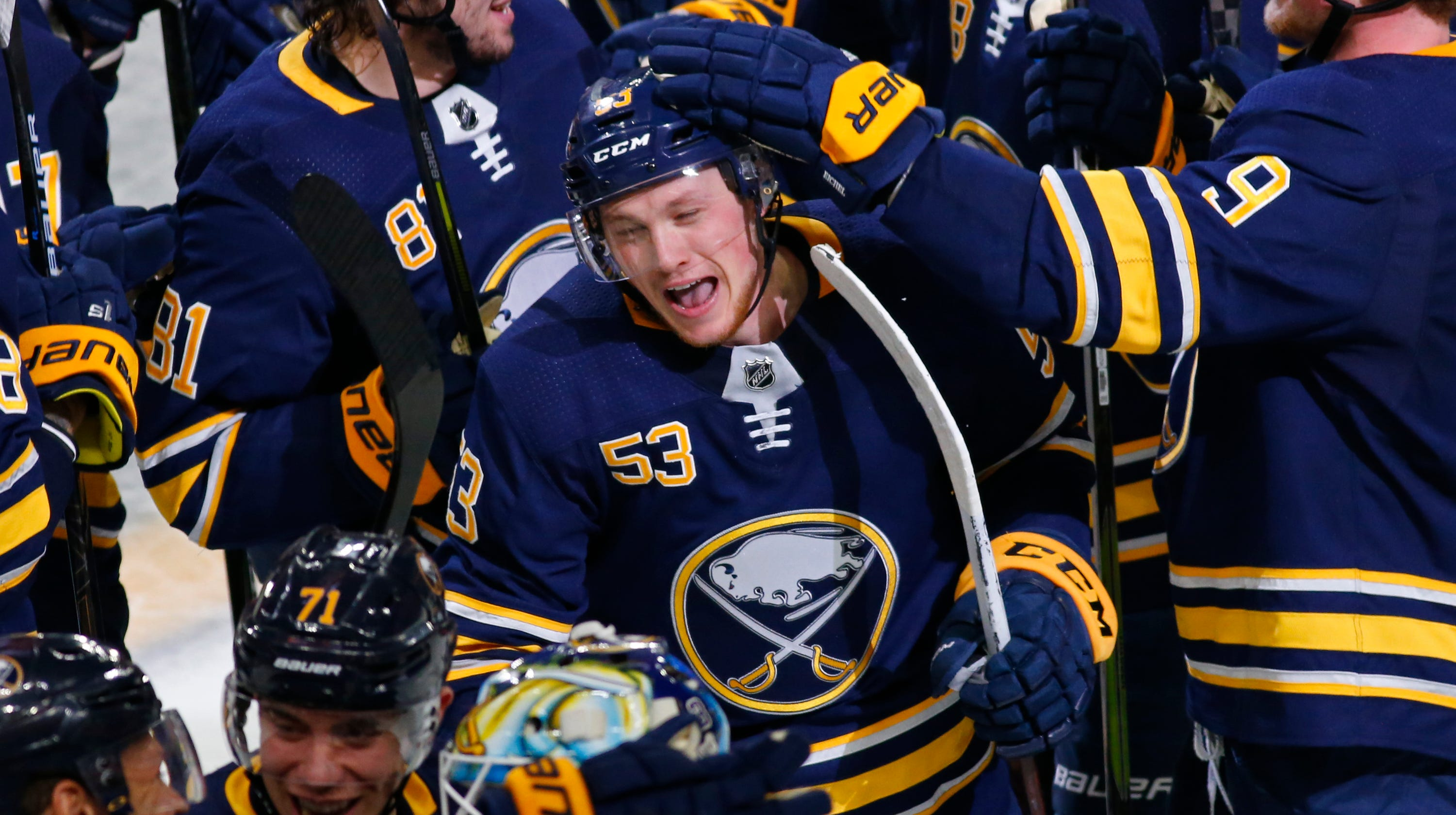 6f1fdeac344 Roth: Buffalo Sabres are a perfect 10, beat San Jose Sharks in another OT  thriller