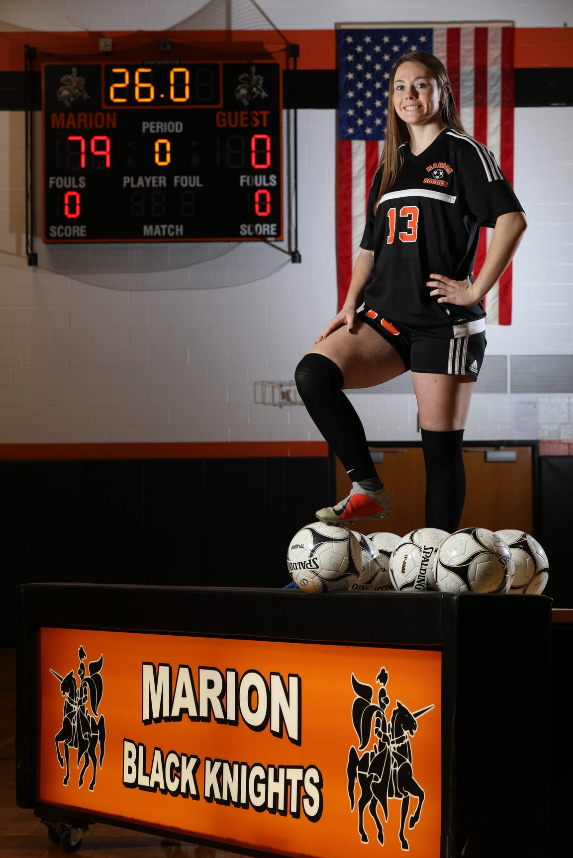 Marion junior Chloe DeLyser. 2018 ARG GIRLS SOCEER PLAYER OF THE YEAR. PLASE USE THIS AS MIAN ART.
