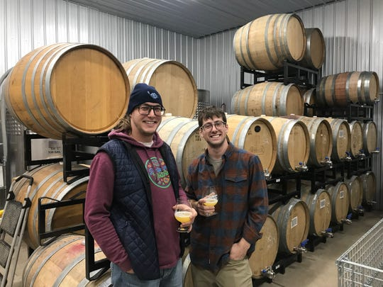 Matt Lull, left, and Jesse Perlmutter, co-founders of Pantomime Mixtures in Schuyler County.