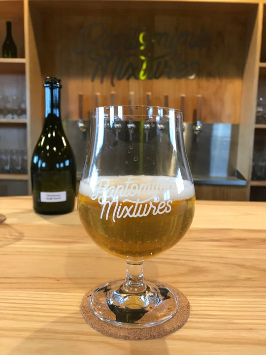 Pantomime Mixtures Chardonnay Single Barrel Intro Into, one of the blendery's first bottled beers.