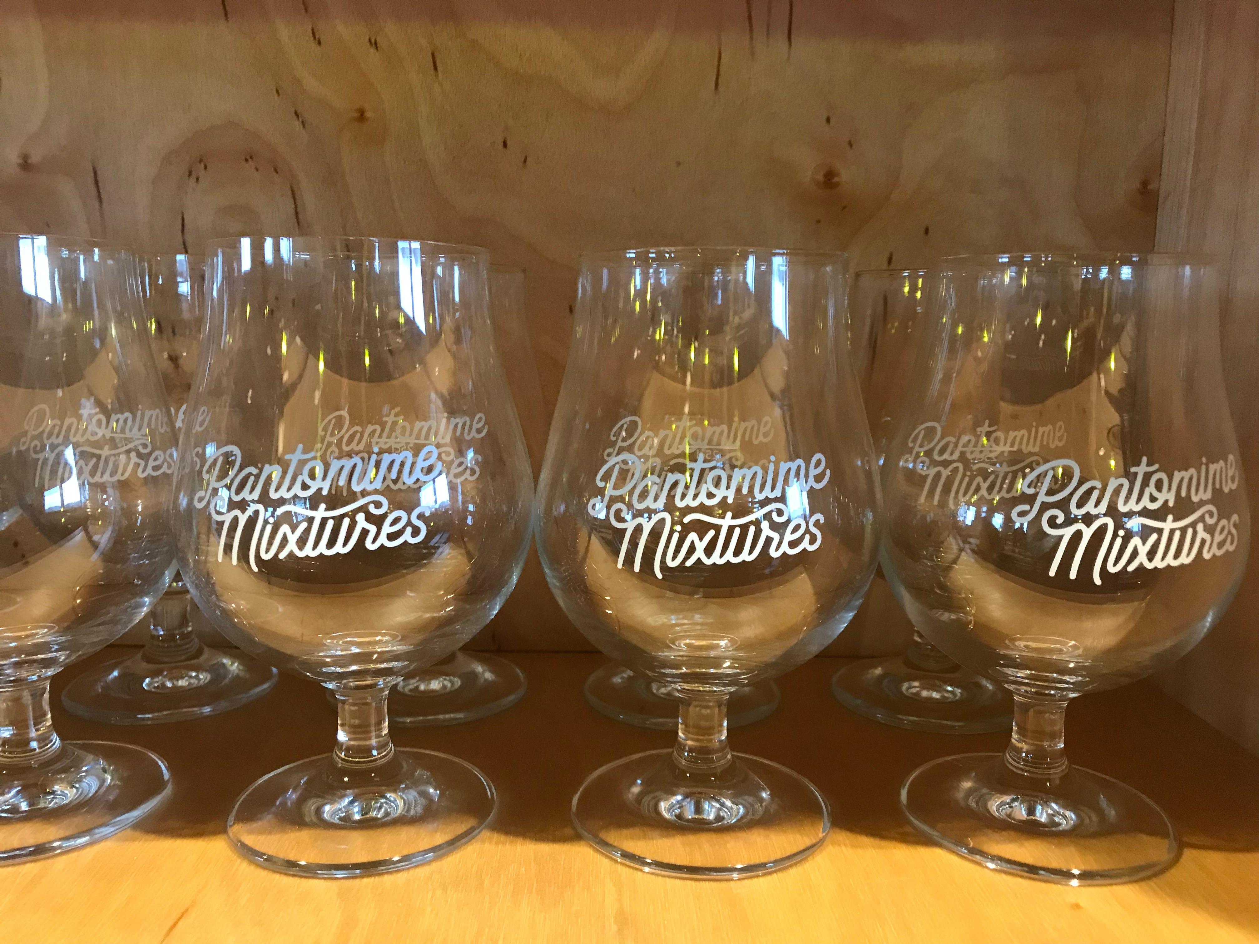 Glassware at Pantomime Mixtures.