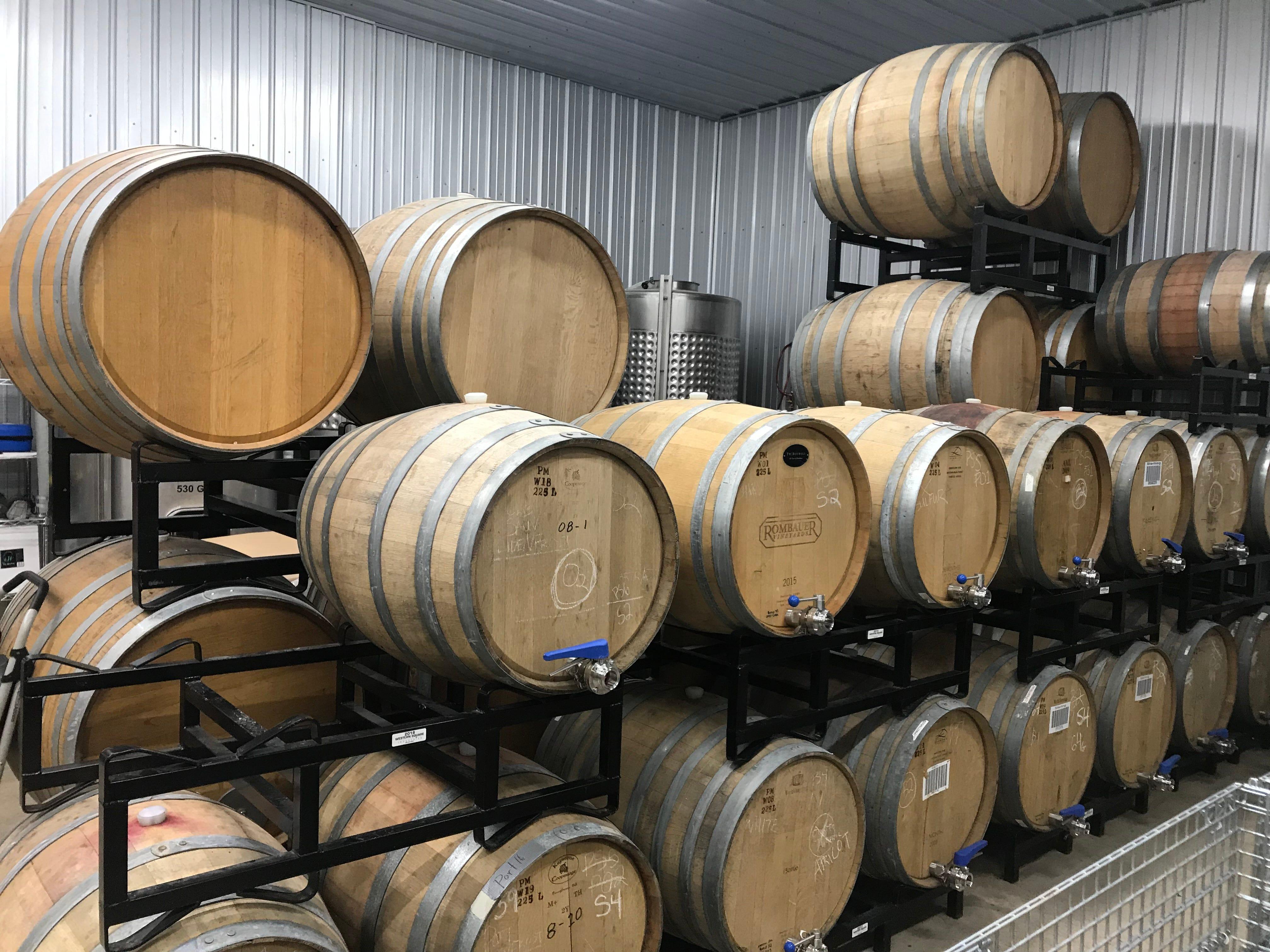 The burgeoning barrel collection at Pantomime Mixtures.