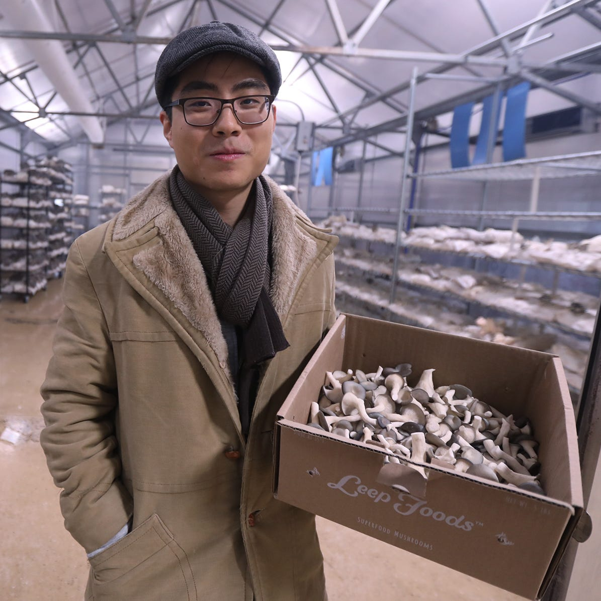 George Zheng of Leep Foods at their facility in...