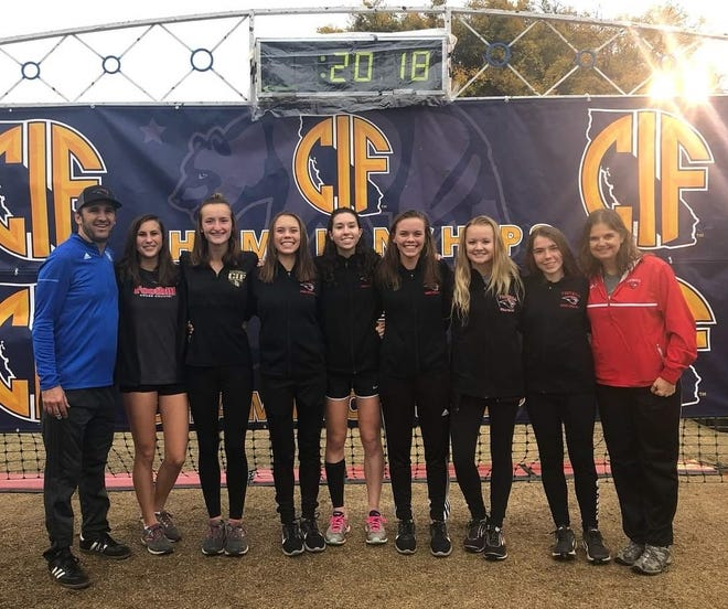 Foothill's girls cross country team finished in eighth place out of all Division III teams at the state championships in Fresno on Saturday, Nov. 24.
