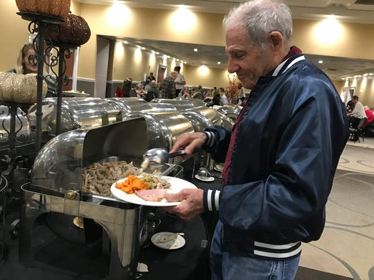 Dale Wingett's rented home in Paradise burned in the Camp Fire. He's not sure what's ahead. On Thanksgiving Day, Nov. 22, 2018, he had dinner at  the Holiday Inn on Hilltop Drive in Redding