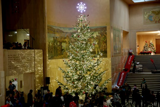 The Holiday Tree Lighting Celebration photographed at the Oregon State Capitol in Salem on Nov. 27, 2018.