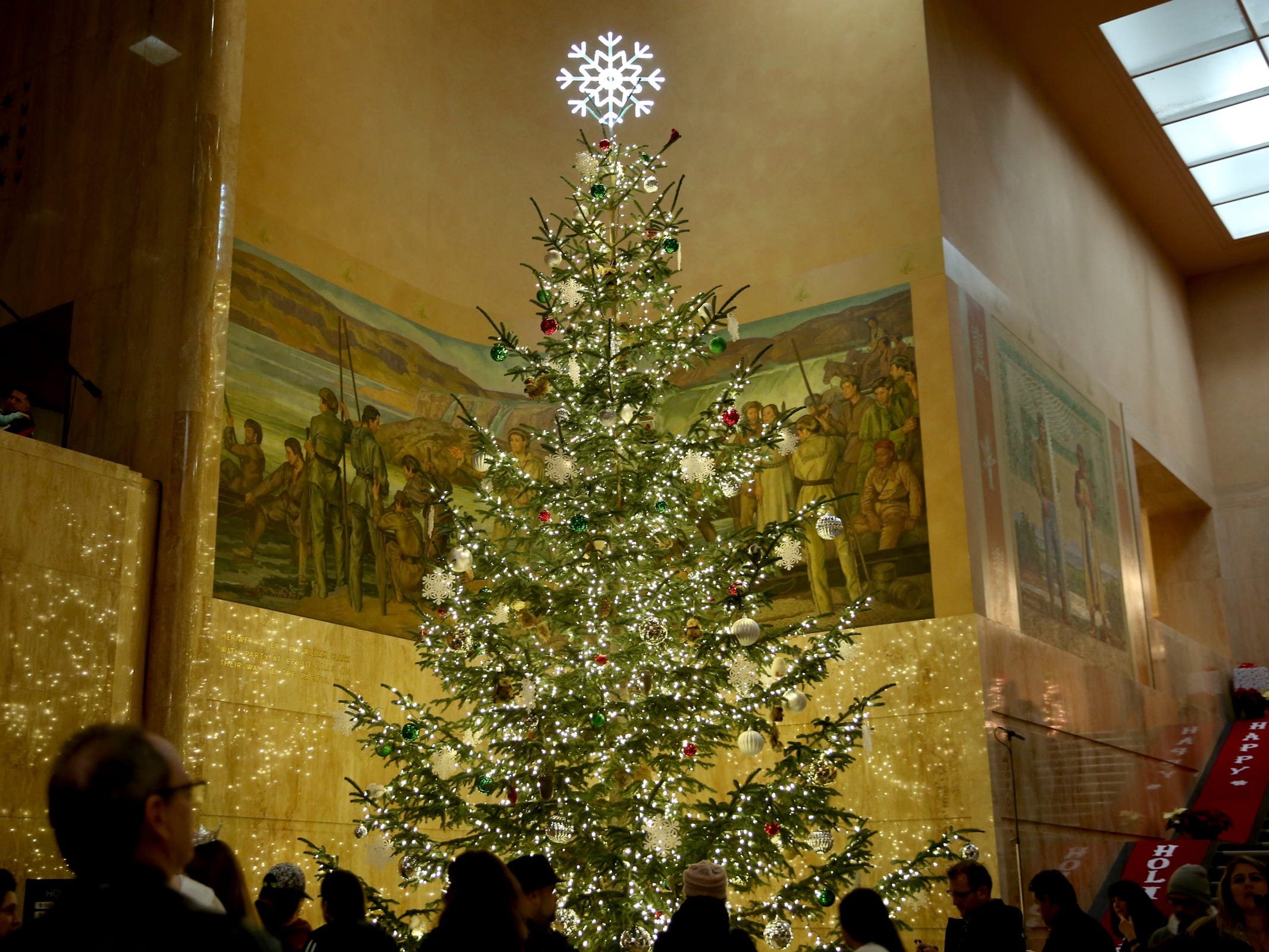 The Holiday Tree Lighting Celebration at the Oregon State Capitol in Salem on Tuesday, Nov. 27, 2018.