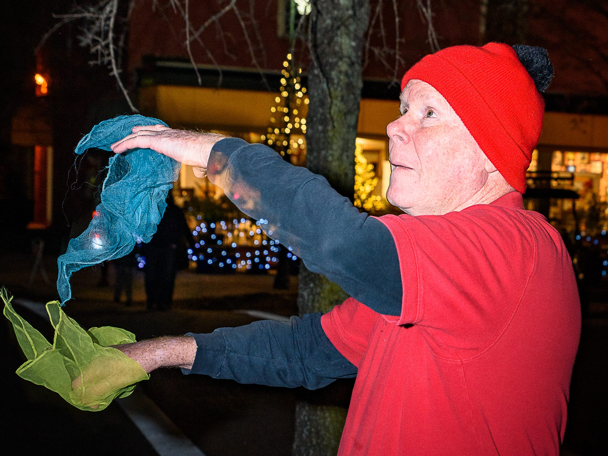 A juggler entertains patrons of Festive Friday in Cape Charles.