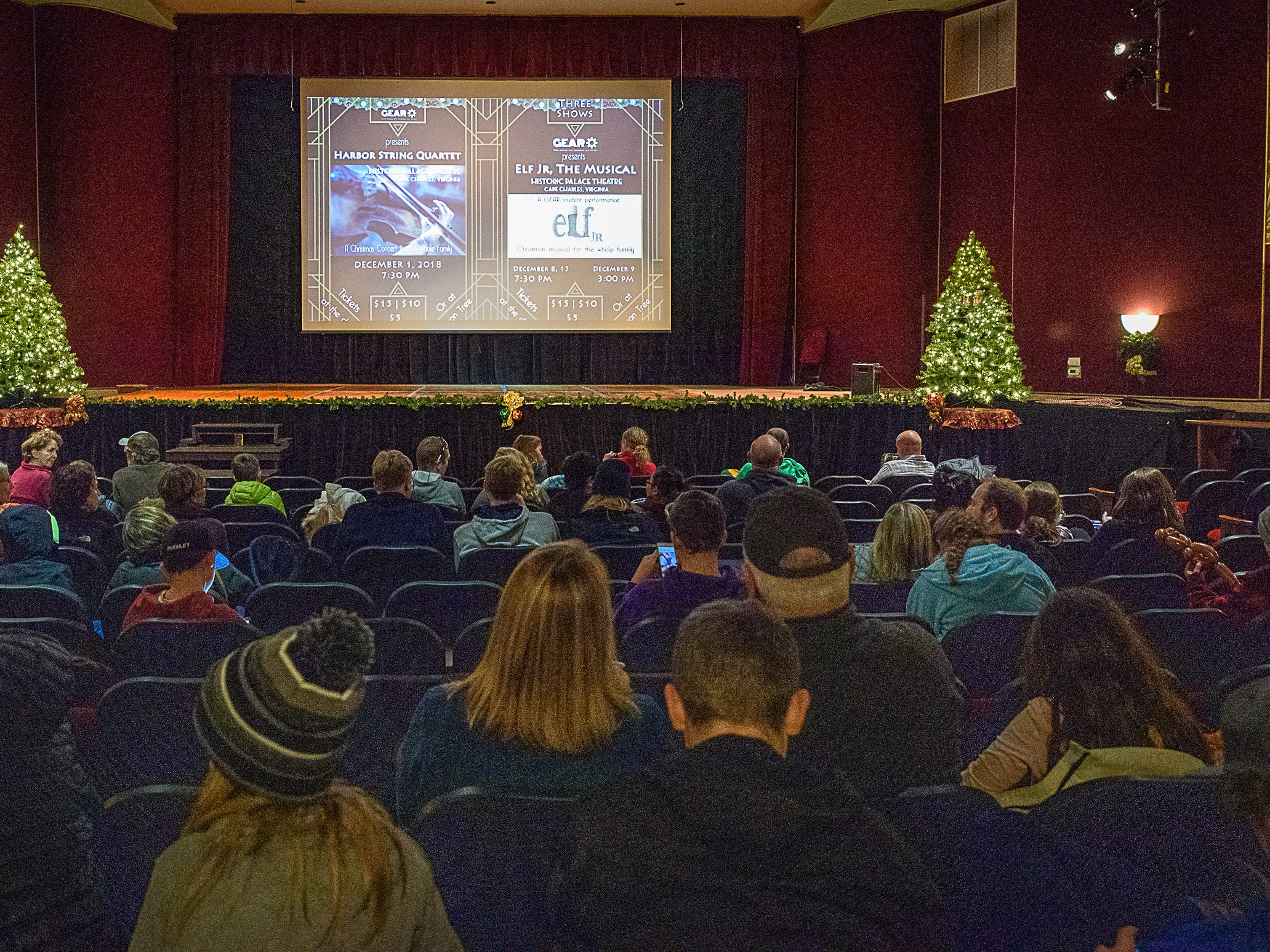 The Historic Palace Theater in Cape Charles is showing Christmas movies during Festive Fridays.